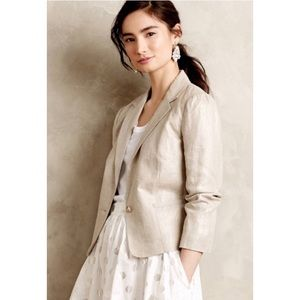 CARTONNIER metallic shimmered linen blazer